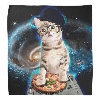 dj cat - space cat - cat pizza - cute cats bandana
