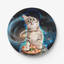dj cat - space cat - cat pizza - cute cats paper plate