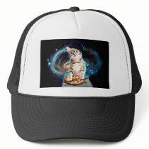 dj cat - space cat - cat pizza - cute cats trucker hat