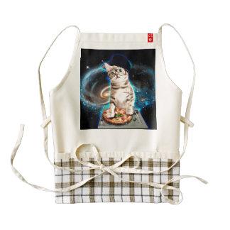 dj cat - space cat - cat pizza - cute cats zazzle HEART apron