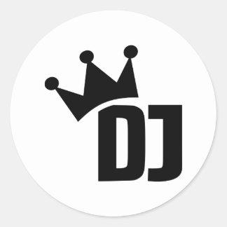DJ champion winner Classic Round Sticker