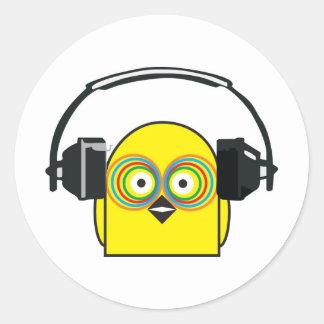 DJ Chook Pegatina Redonda