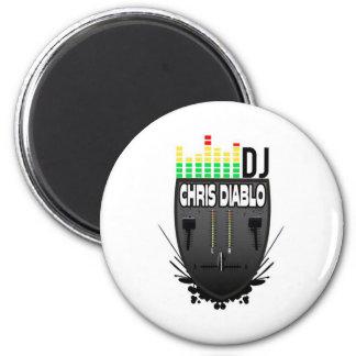 DJ CHRIS DIABLO LOGO 1 2 INCH ROUND MAGNET