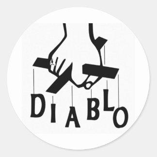 DJ CHRIS DIABLO LOGO 2 CLASSIC ROUND STICKER
