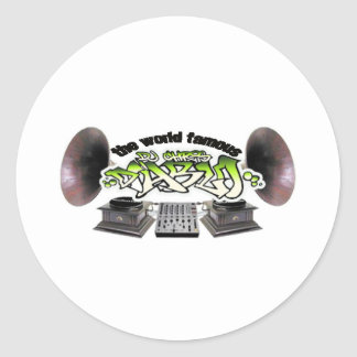 DJ CHRIS DIABLO - OL SCHOOL CLASSIC ROUND STICKER