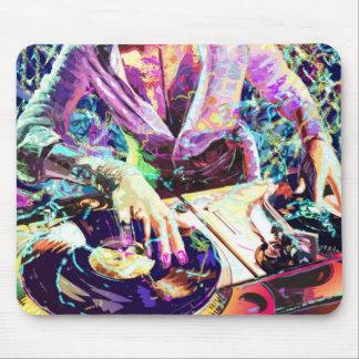 DJ CLUB GIRL MOUSE PAD