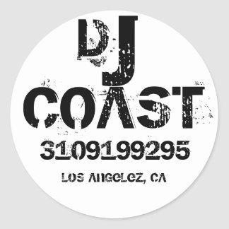 DJ COAST CLASSIC ROUND STICKER