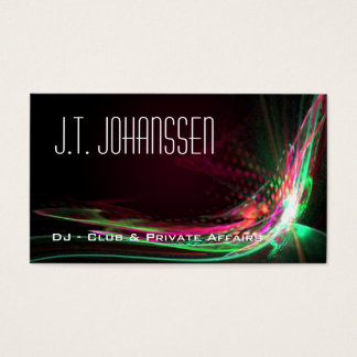 DJ - Color Explosion Professional Business Cards