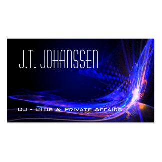 DJ - Coloree las tarjetas de visita estándar negra