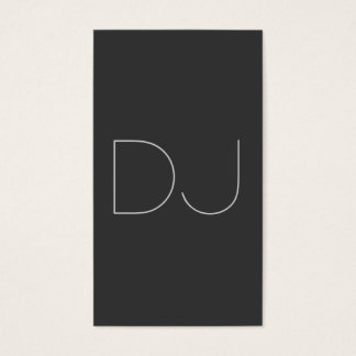 DJ Contemporary Grey Vertical Clean Business Card