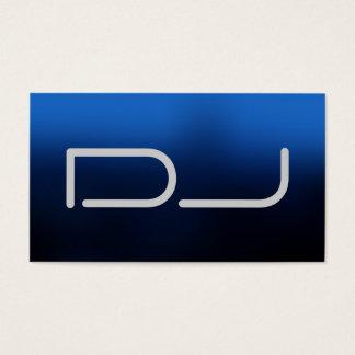 DJ Contemporary Stylish Blue Background Business Card