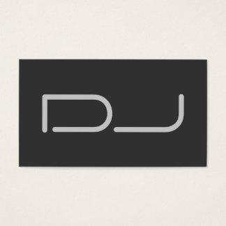 DJ Contemporary Stylish Grey Business Card