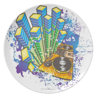 DJ Control Panel Party Plate