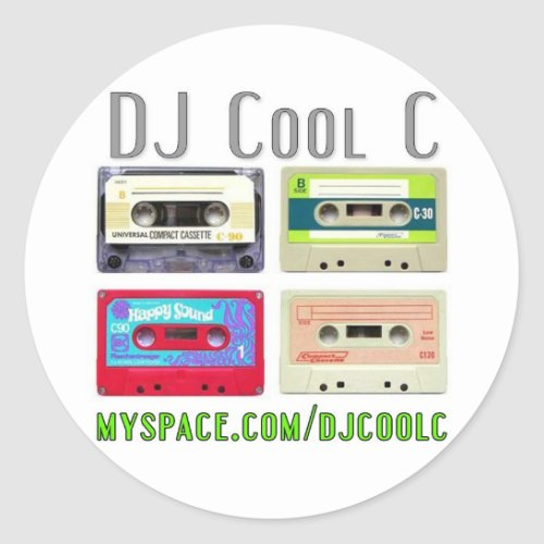 DJ Cool C Mixtape Sticker