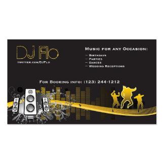 DJ - coordinador de la música de los discs jockeye Plantilla De Tarjeta De Negocio