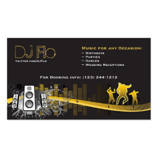 DJ - coordinador de la música de los discs Plantilla De Tarjeta Personal