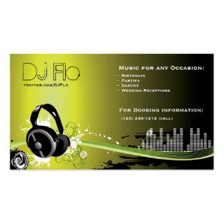 DJ - coordinador de la música del disc jockey Tarjetas De Visita