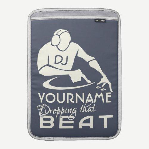 "DJ custom 13"" MacBook sleeve"