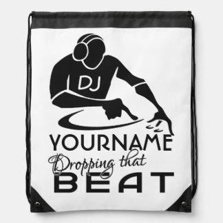 DJ custom bag Drawstring Bag