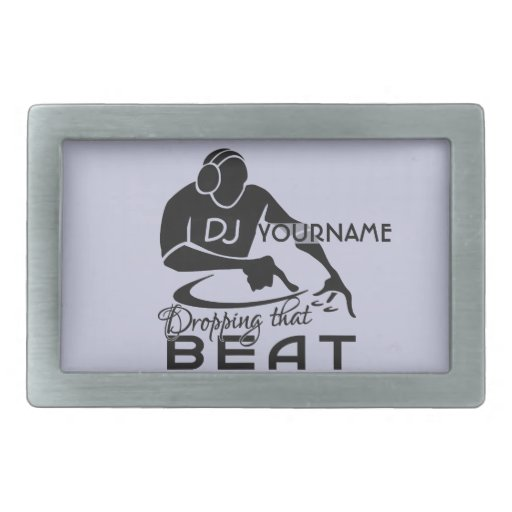 DJ custom belt buckle