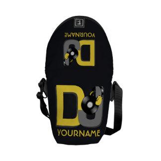 DJ custom color monogram messenger bags