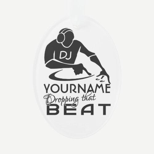 DJ custom color & monogram ornament