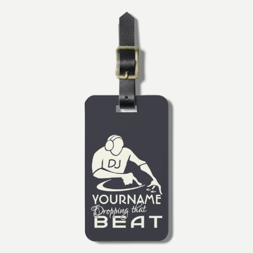 DJ custom luggage tag