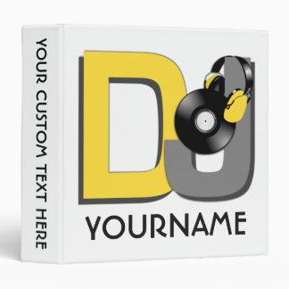 DJ custom name & color binders