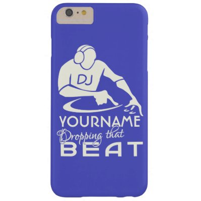 DJ custom name & color cases Barely There iPhone 6 Plus Case