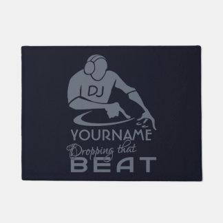 DJ custom name & color door mats