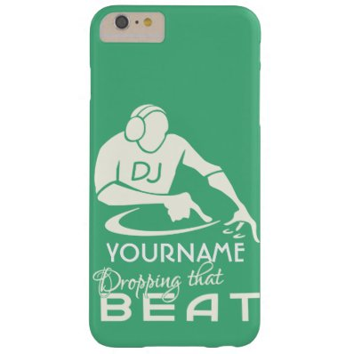 DJ custom name & color phone cases Barely There iPhone 6 Plus Case