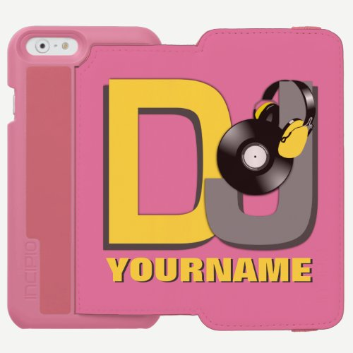 DJ custom name & color wallet cases