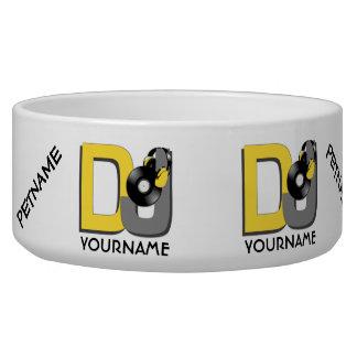 DJ custom pet bowls