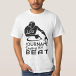 """DJ custom shirt - choose style &amp; color<br><div class=""""desc"""">&quot;DJ [YOURNAME] dropping that beat&quot;. Change the text field to what you want. See my store for more items with,  and color choices of,  this design.</div>"""