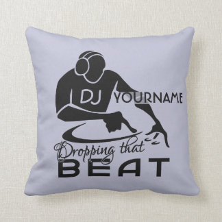 DJ custom throw pillow