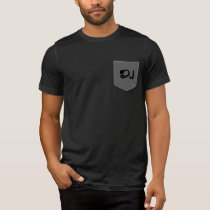 dj . d.j. music black T-Shirt
