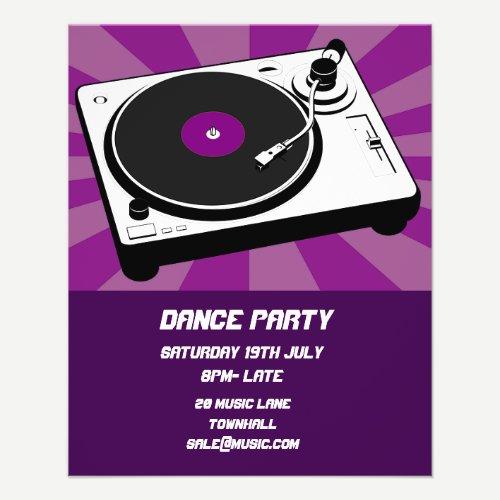 DJ Dance Party Nightclub disco Flyer