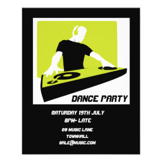 DJ Dance Party Retro Nightclub disco Flyer