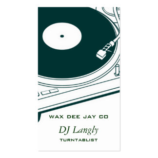 DJ Dee Jay Turntable Business Card Templates