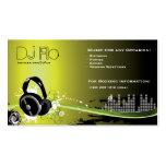 DJ - deejay music coordinator Business Cards