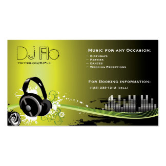 DJ - deejay music coordinator Double-Sided Standard Business Cards (Pack Of 100)