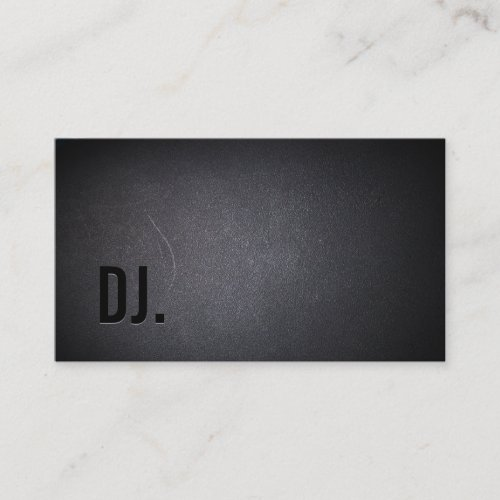 DJ Deejay Professional Black Bold Text Elegant Business Card