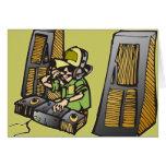 DJ Disc Jockey Greeting Card