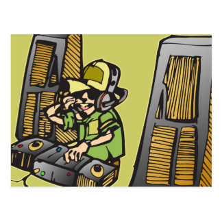 DJ Disc Jockey Postcard