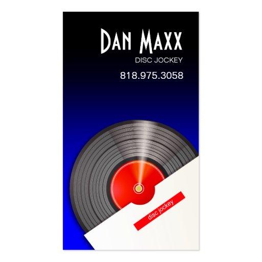 DJ Disc Jockey Vinyl Hot Wax - Music Business Card