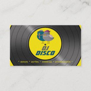 retro vinyl record business cards zazzle