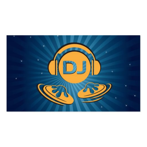 DJ double sided Business cards