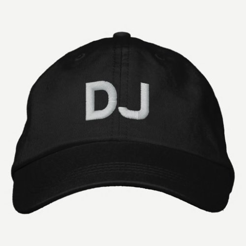 DJ EMBROIDERED BASEBALL CAP