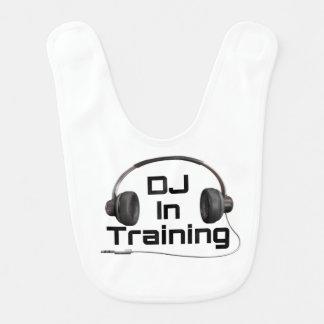 DJ en el entrenamiento - babero del bebé