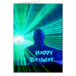 DJ en las cubiertas - tarjeta de cumpleaños